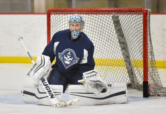 The Admirals' Troy Grosenick has a record of 19-14-5, and his 2.49 goals-against average ranks 11th in the AHL among qualifying goaltenders.