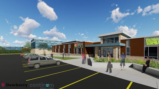 This is a rendering for the proposed Milwaukee County Secure Residential Care Center for Children and Youth.