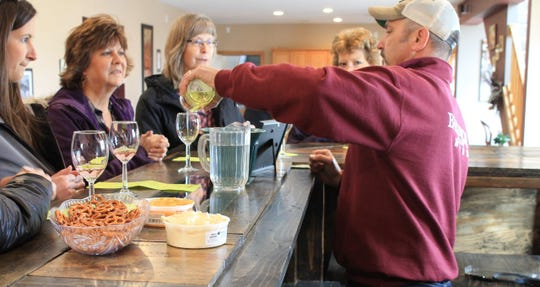 Wine tastings are both enjoyable and relaxing at Baraboo Bluff Winery with large windows overlooking the bluffs.