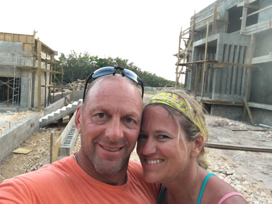 David and Christine Meadors at Cayman Brac while their home was under construction.