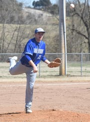 Cotter's Cole Adams throws to first base during a recent game.