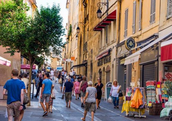 The streets of Aix-en-Provence.