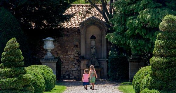 The formal gardens at Pavillon Vendome in Aix-en-Provence.