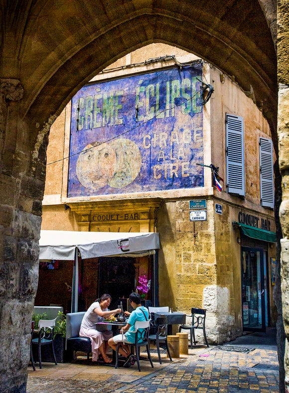 Dining in Aix-en-Provence.