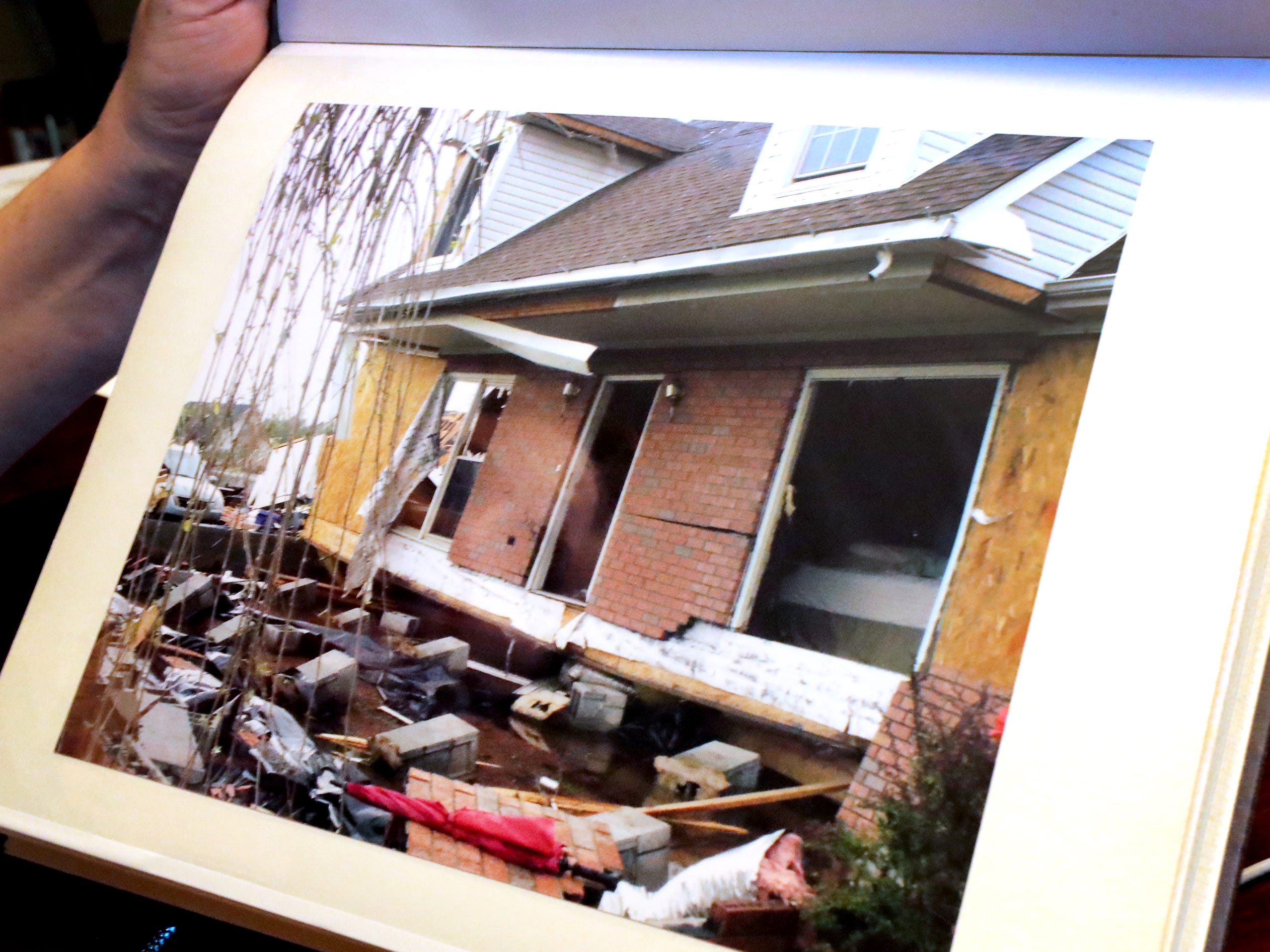 A photo of the Mike and Teresa Bickford's old home that was destroyed by the 2009 Good Friday tornado, on Wednesday March 27, 2019.