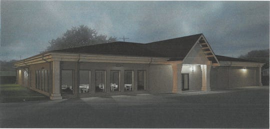 This rendering from GHP Environmental & Architecture shows what the Hendersonville Senior Center should look like after roof and exterior facade renovations.