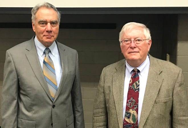 This year's Licking County Agriculture Hall of Fame inductees Rodney Kissell (left) and Timothy Reichert.