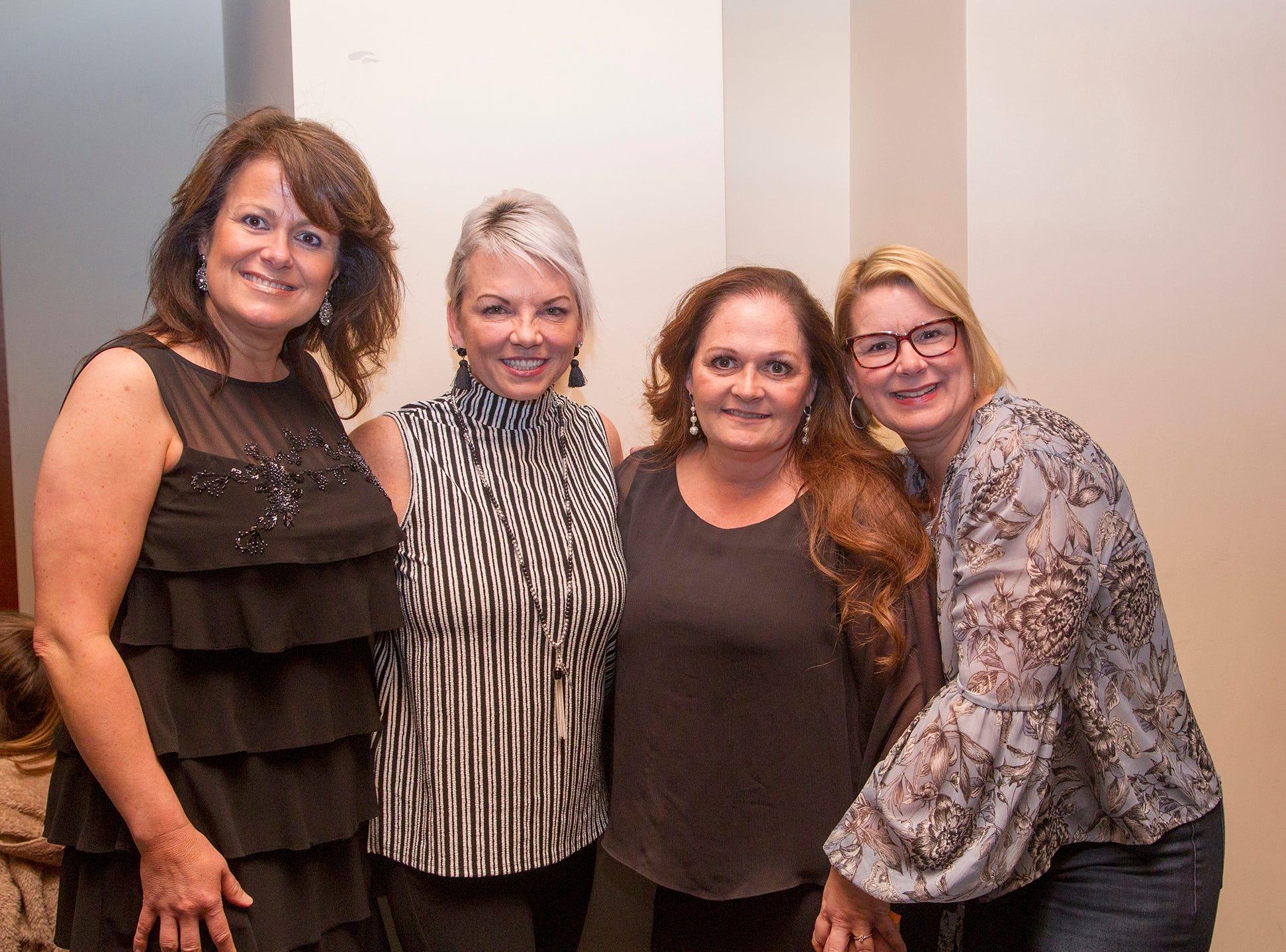 Laura Mc MIchael, JoAnn Romano, Rebecca Fitzgerald, Nanine Gallo. Anthony Kearns benefit concert to benefit Julia's Butterfly Foundation at West Side Presbyterian Church in Ridgewood. 3/23/2019