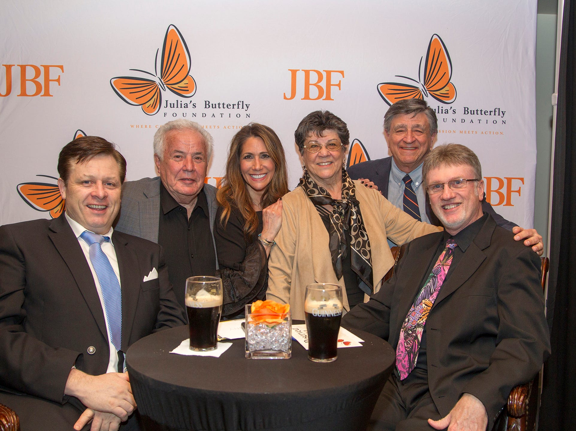 Anthony Kearns, Lou Andreozzi, Lori Thinwel, Maria,Andreozzi, Joe Blondin, David George.  Anthony Kearns benefit concert to benefit Julia's Butterfly Foundation at West Side Presbyterian Church in Ridgewood. 3/23/2019