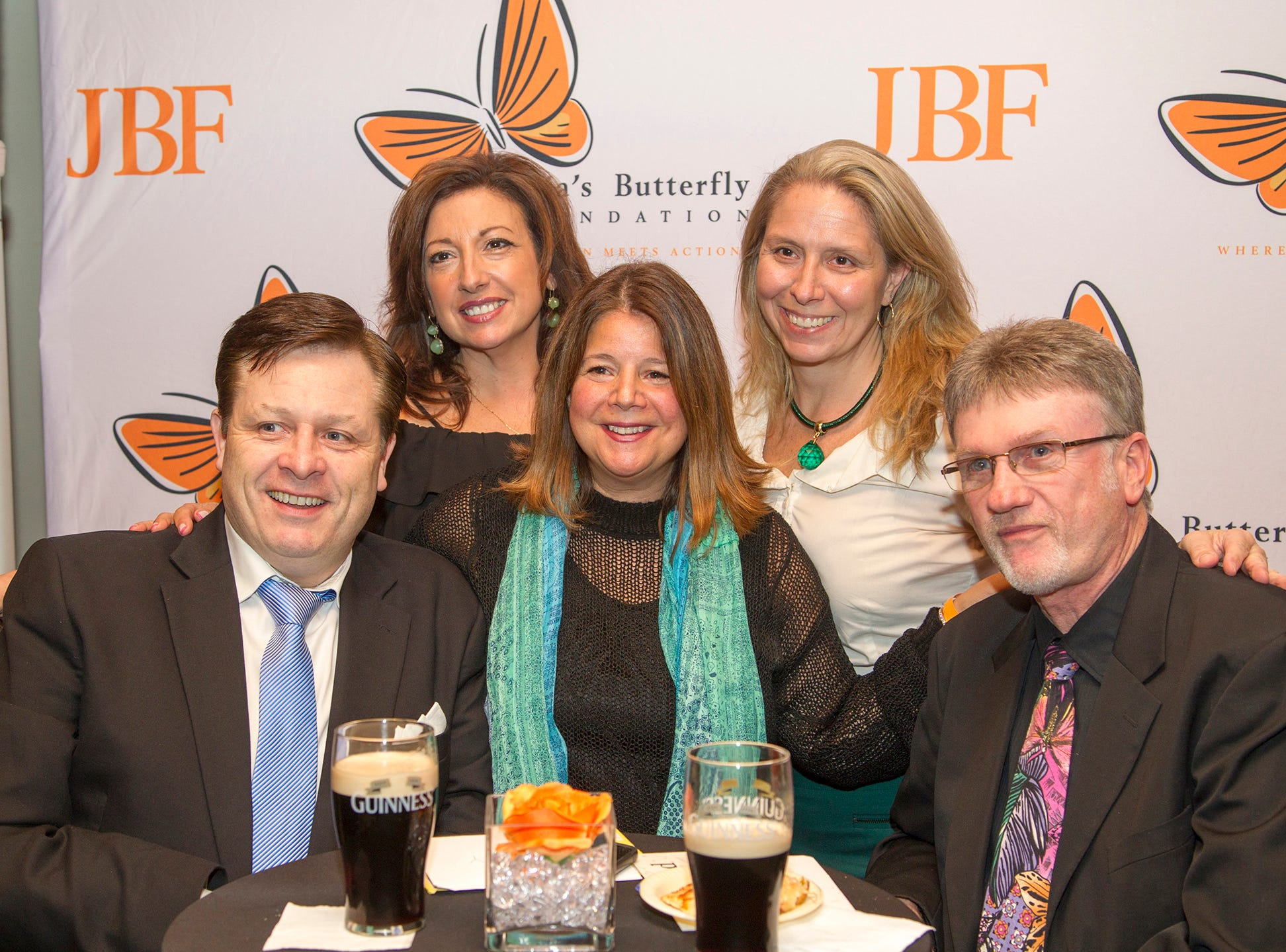 Anthony Kearns, Kathleen Williams, Lisa Kirkwod, Lisa Roman, David George. Anthony Kearns benefit concert to benefit Julia's Butterfly Foundation at West Side Presbyterian Church in Ridgewood. 3/23/2019