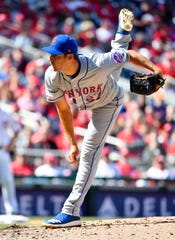 Mar 28, 2019; Washington, DC, USA; New York Mets starting pitcher Seth Lugo (67) throws a pitch to the Washington Nationals during the seventh inning at Nationals Park. Mandatory Credit: Brad Mills-USA TODAY Sports