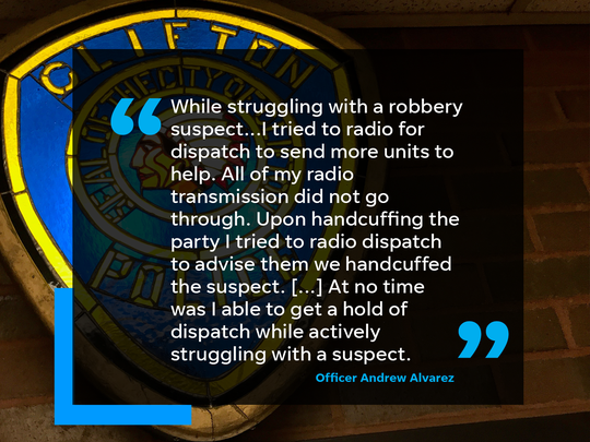 Clifton police officers reported their issues with radio transmissions while on duty in emails to the department.