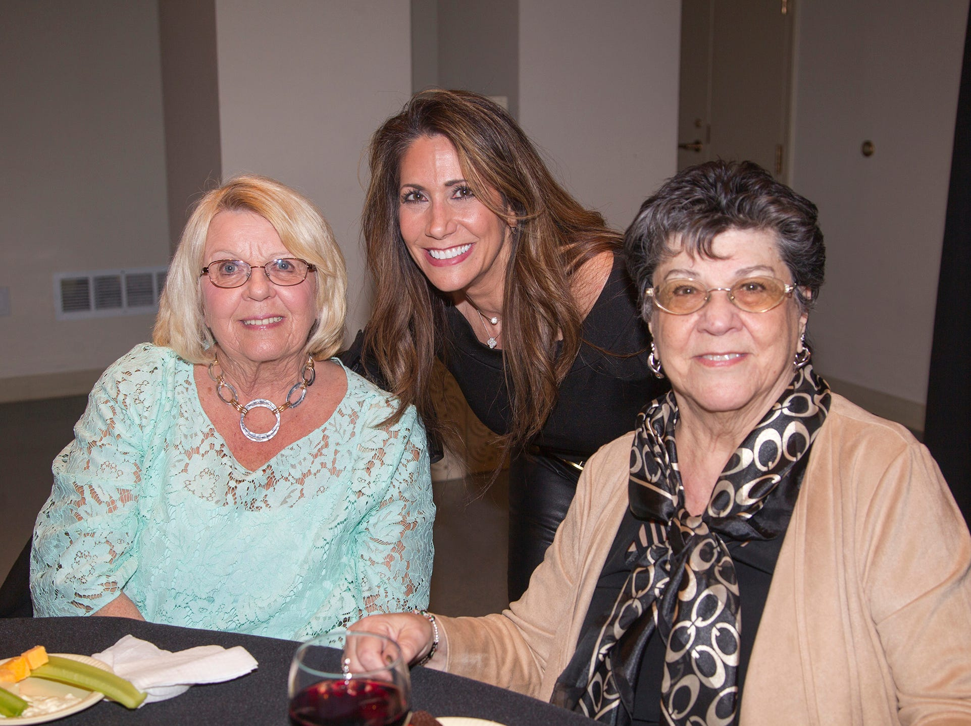 Marie Andreozzi, Barbara Blowdin, Lori Thinwel. Anthony Kearns benefit concert to benefit Julia's Butterfly Foundation at West Side Presbyterian Church in Ridgewood. 3/23/2019
