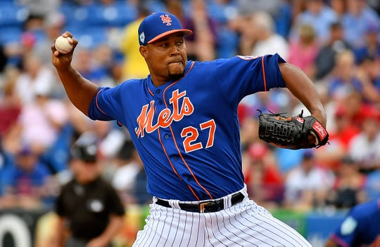 New York Mets starting pitcher Jeurys Familia.