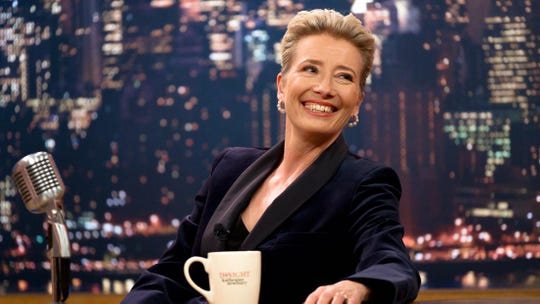 "Emma Thompson appears in ""LAte Night"""
