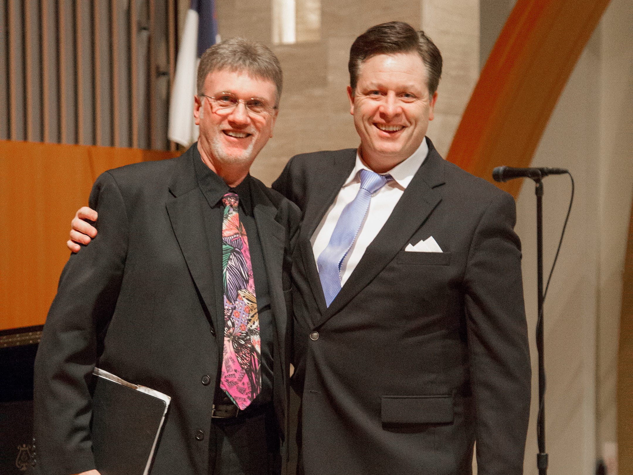 David George and Anthony Kearns. Anthony Kearns benefit concert to benefit Julia's Butterfly Foundation at West Side Presbyterian Church in Ridgewood. 3/23/2019