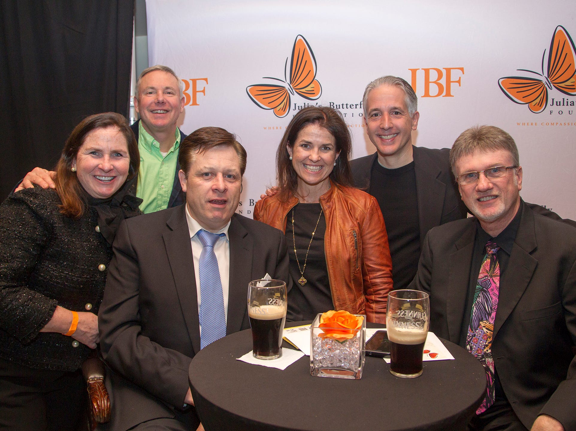 Maureen and Dave McLoughlin, Patti Reynolds DePhillips, Assemblyman Christopher DePhillips, David George. Anthony Kearns benefit concert to benefit Julia's Butterfly Foundation at West Side Presbyterian Church in Ridgewood. 3/23/2019