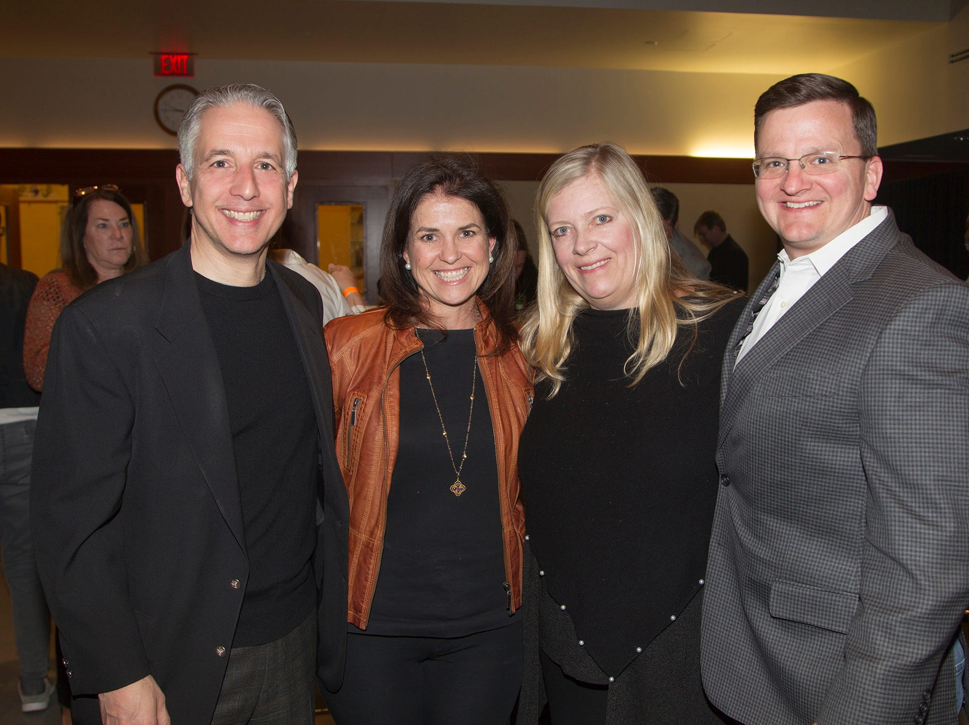 Assemblyman Christopher DePhillips, Patti Reynolds DePhillips, Elaine and Jamie Young. Anthony Kearns benefit concert to benefit Julia's Butterfly Foundation at West Side Presbyterian Church in Ridgewood. 3/23/2019