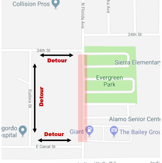 Emergency Florida Ave. closure this weekend