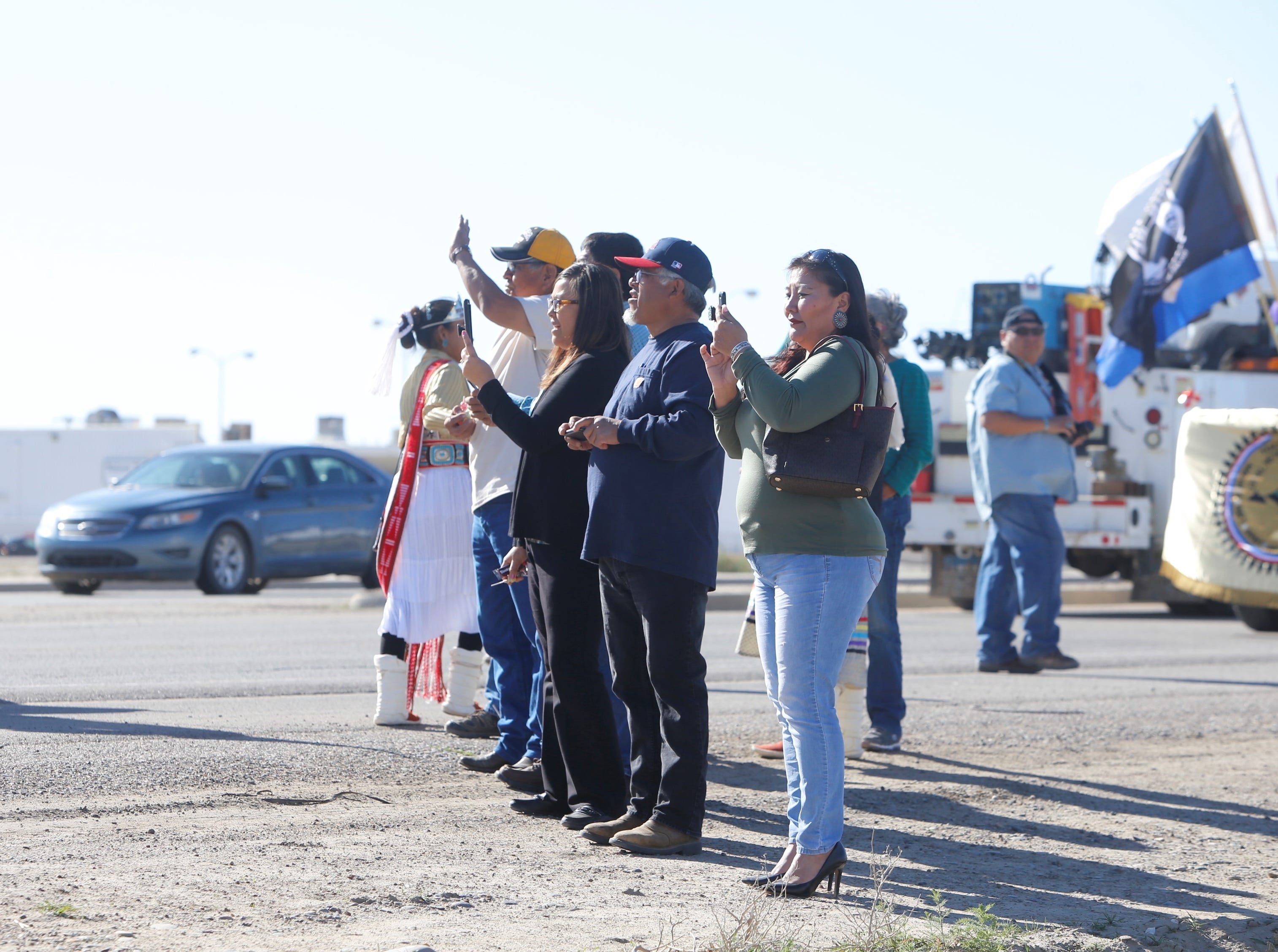 Dozens of spectators came to watch the Vietnam Veterans Day parade in Shiprock on Friday.