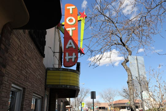 The Totah Theater is pictured, Friday, March 29, 2019, in downtown Farmington. City officials hope to preserve the downtown district's historical designation while upgrading pedestrian amenities in an area it hopes to turn into a vibrant arts and commercial hub.
