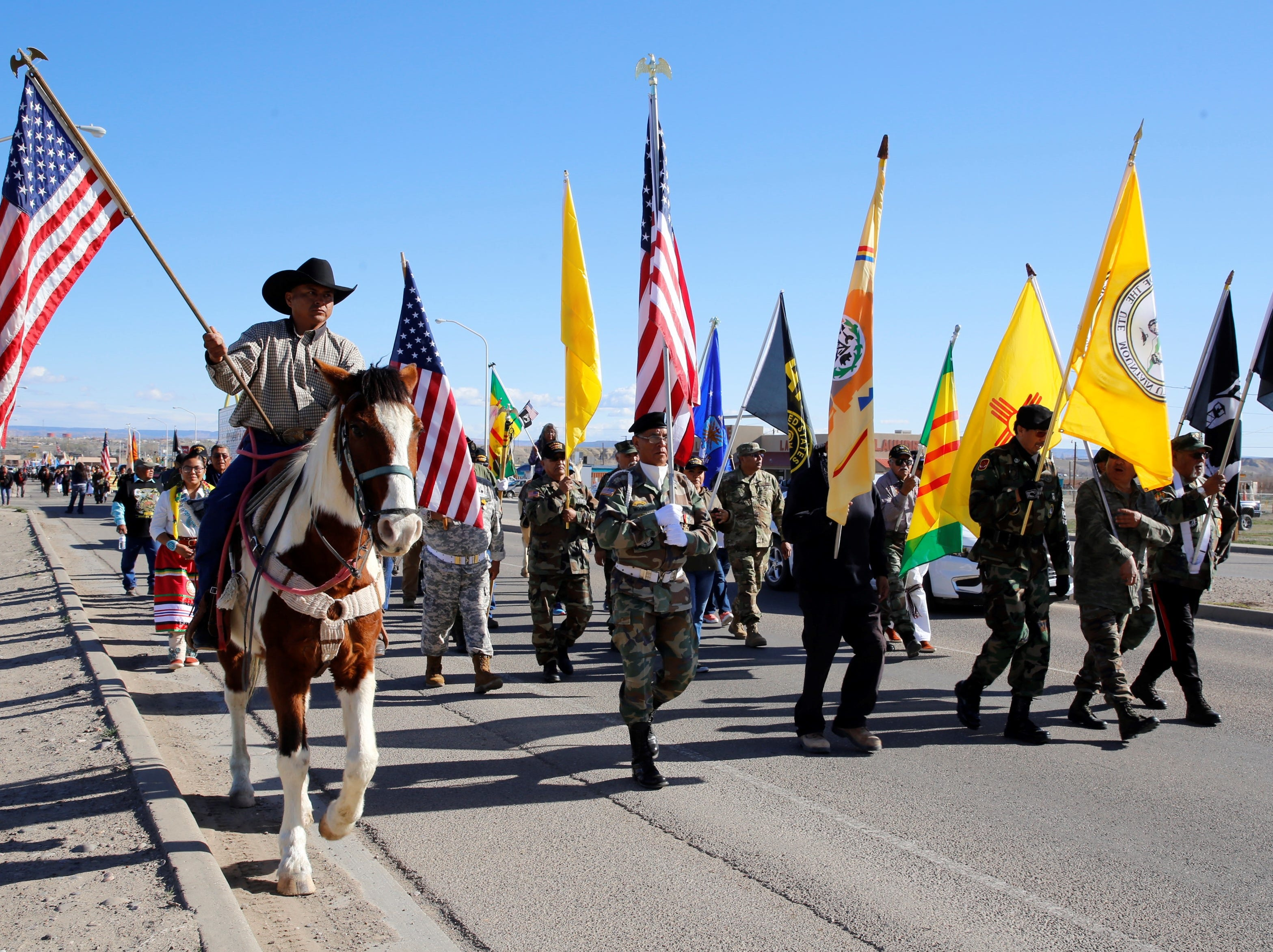 Various veteran groups joined the Vietnam Veterans Day parade on Friday in Shiprock.