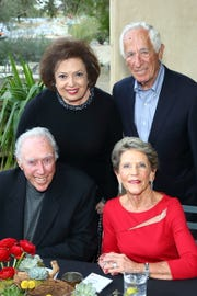 Front row, from left, Manny and Linda Rider. Back row, from left, Nancy Tapick and Charles Polatsek