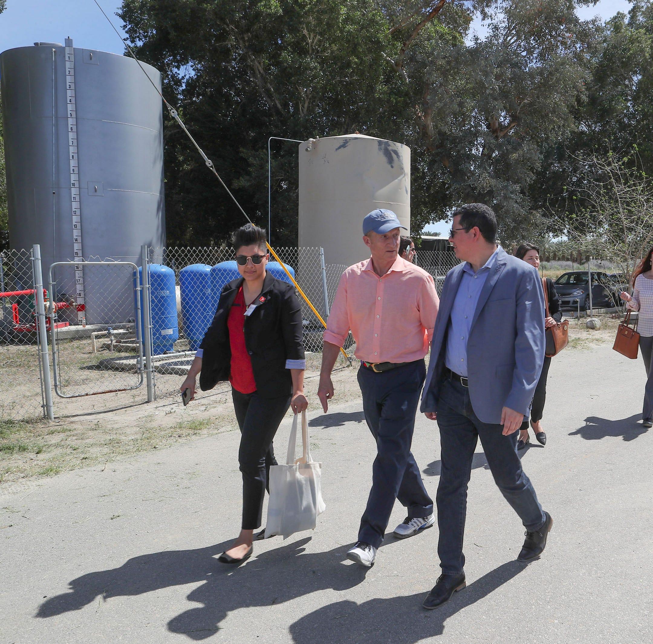 Billionaire environmentalist Tom Steyer joins Eduardo Garcia to fight for clean water across California