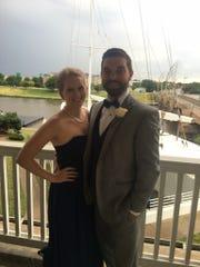 Tessa Smith and her fiance Matthew Baker