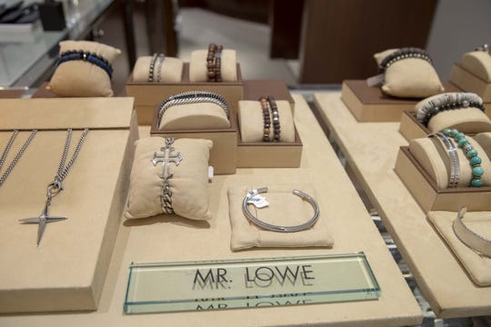 Actor Rob Lowe and his jewelry-designer wife Sheryl Lowe introduce their new men's jewelry collection, named Mr. Lowe. The pieces are made from various materials including sterling silver, hematite, pyrite, pave diamonds, onyx and quartz.