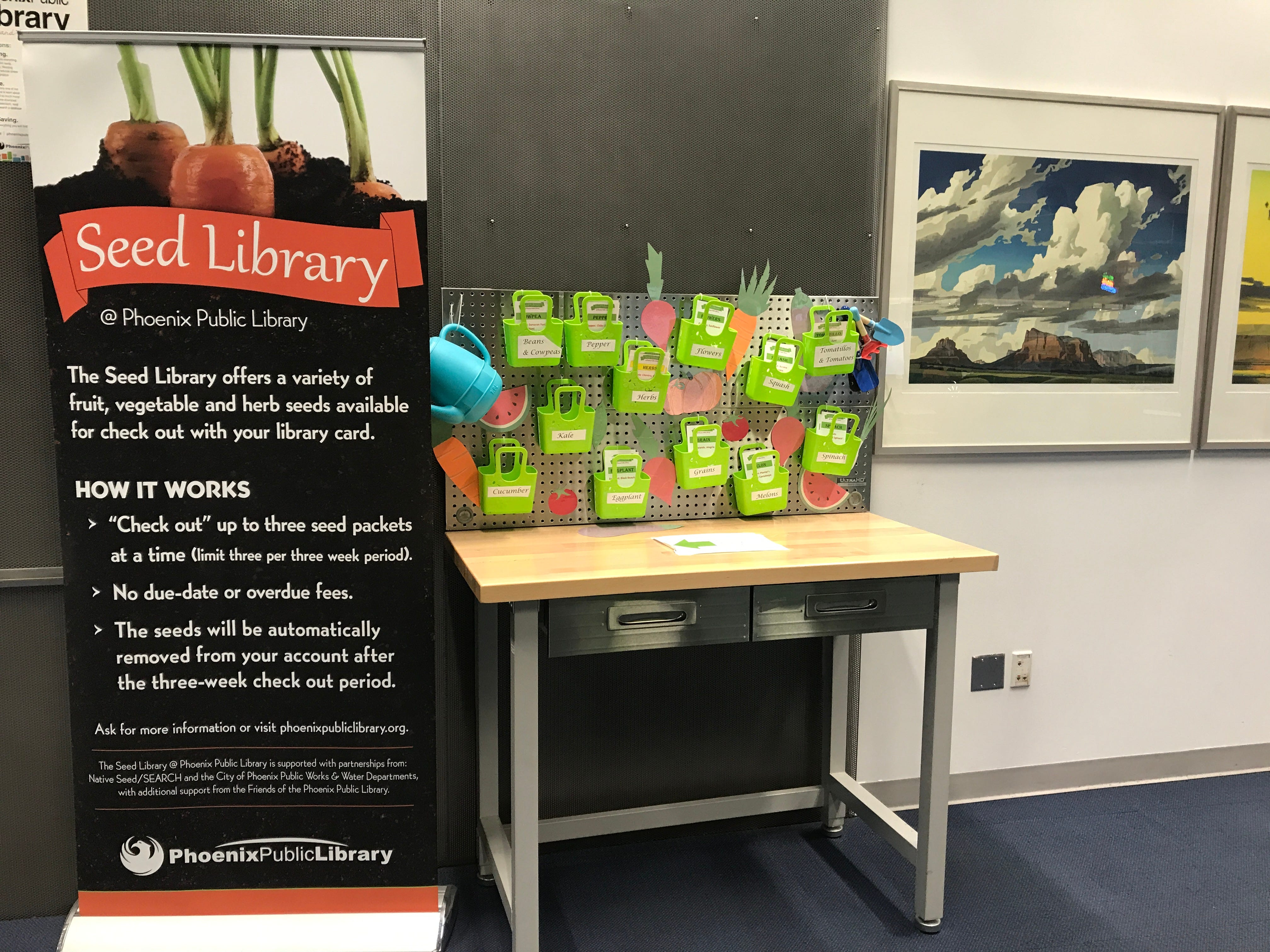 The Seed Library at Phoenix's Burton Barr Library on March 26, 2019.