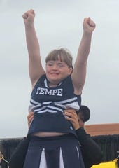 Sophie Stern, 15, is a cheerleader with Special Olympics.