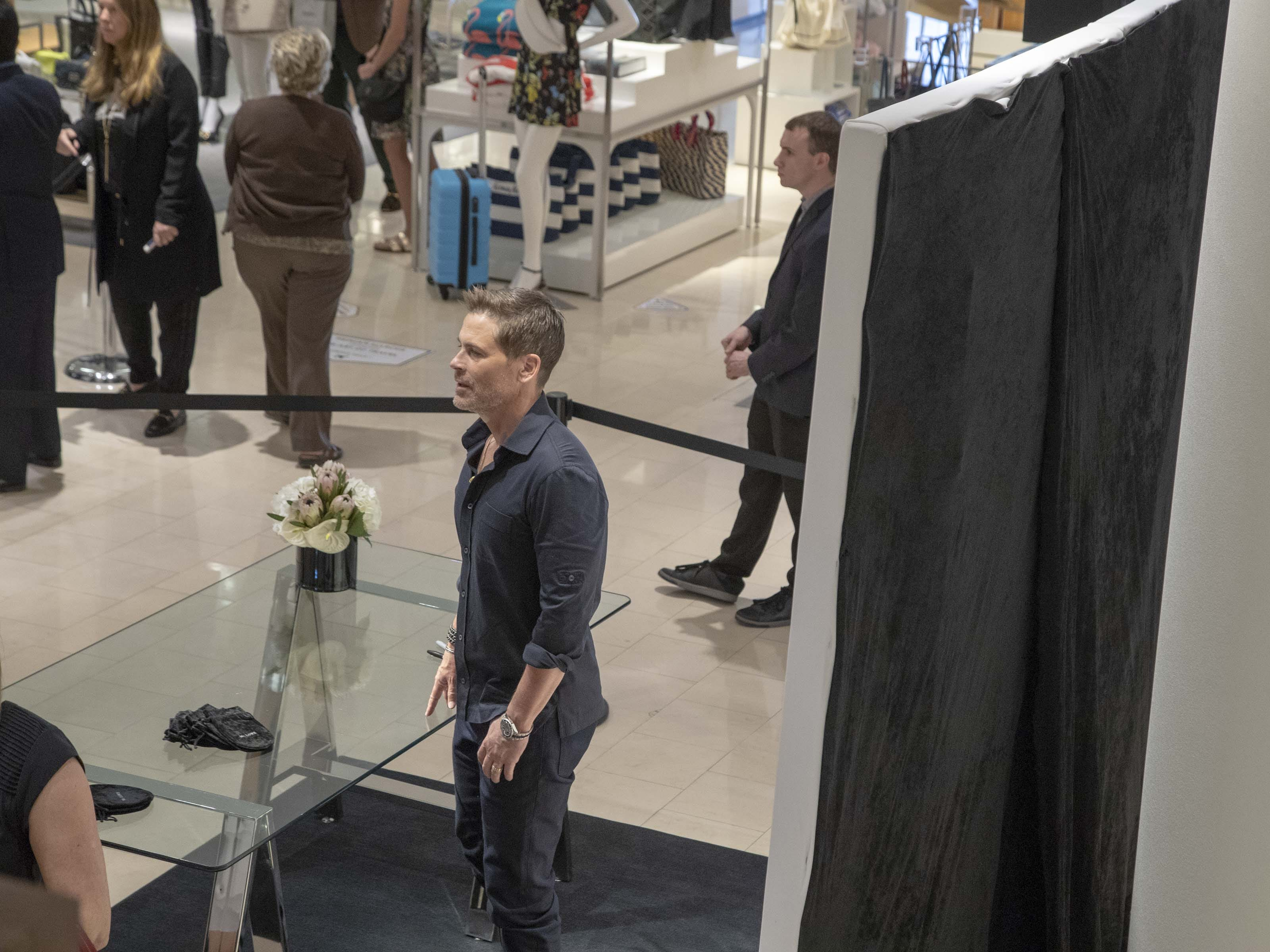 Actor Rob Lowe introduces his new men's jewelry collection at Scottsdale Fashion Square on March 28, 2019.