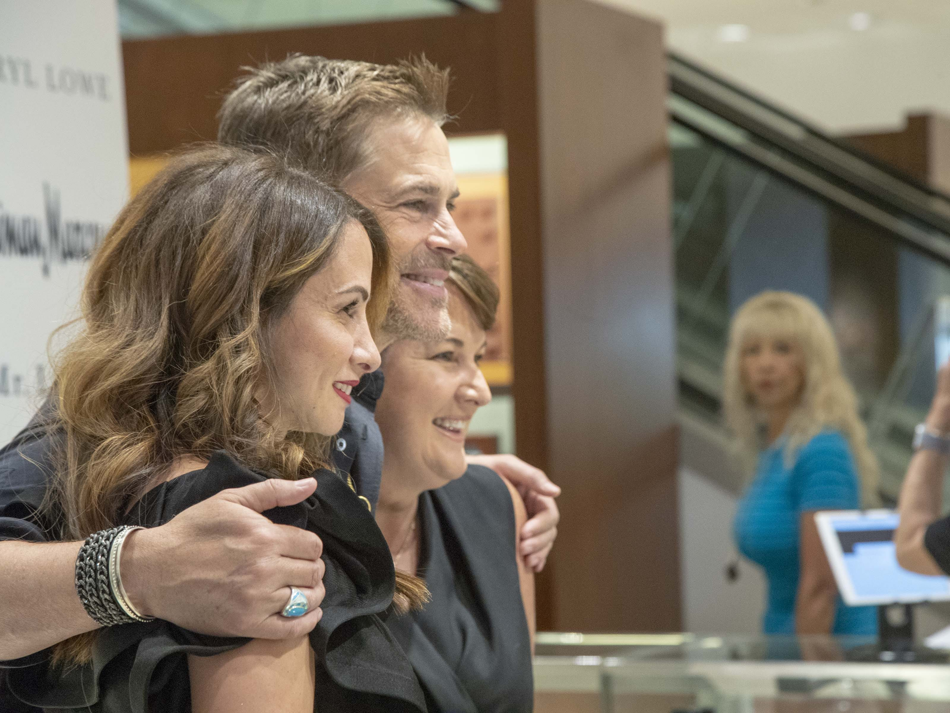Fans meet actor Rob Lowe and his wife Sheryl Lowe during an event introducing their new men's jewelry collection at Scottsdale Fashion Square on March 28, 2019.