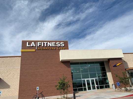 The exterior of the first LA FItness SIgnature Club in Arizona. This one is near Agritopia in Gilbert, 1310 S. Higley Road.