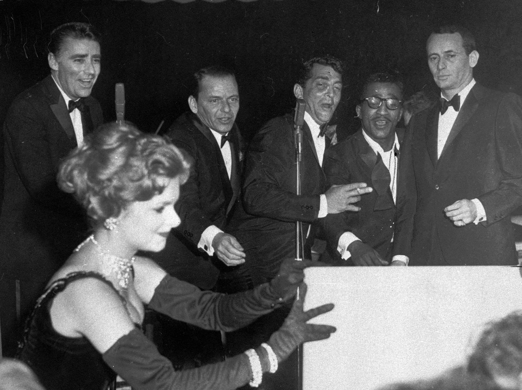 """Rat Pack: Frank Sinatra, Dean Martin, Sammy Davis Jr. recorded the album """"Rat Pack: Live At the Sands"""" at the Sands Casino but the musicians were known to show up and perform at each others shows in the Sands' Copa Room."""