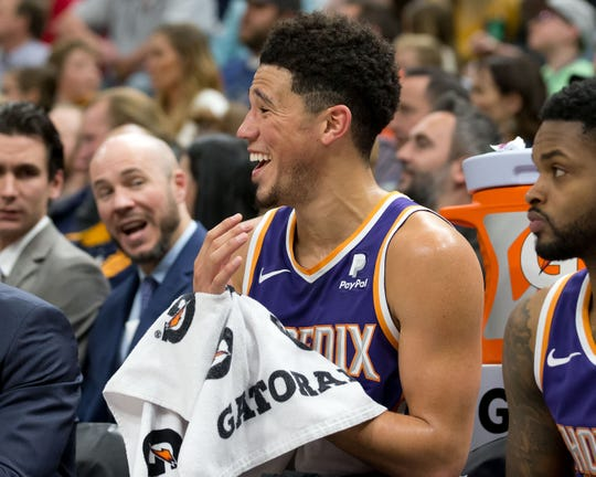 Suns guard Devin Booker scored 59 points against the Jazz in Salt Lake City on Monday night. Not everyone was a fan of the feat.
