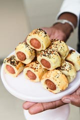 "Everything Seed Pigs in a Blanket from Mary Giuliani's ""Tiny Hot Dogs: A Memoir in Small Bites."""