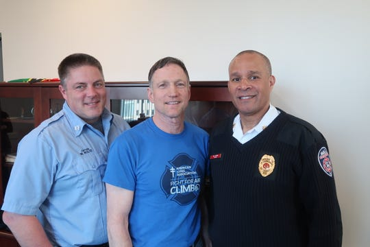 From left to right: Rochester Fire Department Capt. Michael Nolte, Lt. John Grieco, and Chief Willie Jackson.