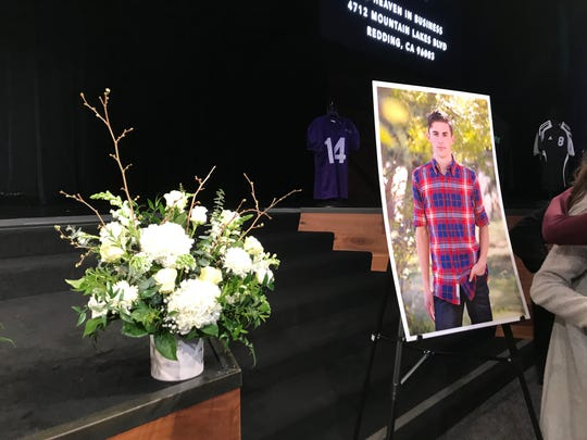 Cody Beaumont, a Shasta College athlete and former student of Redding Christian and Simpson University who died in a car crash, was honored in a memorial service at Bethel Church on Thursday, March 28.