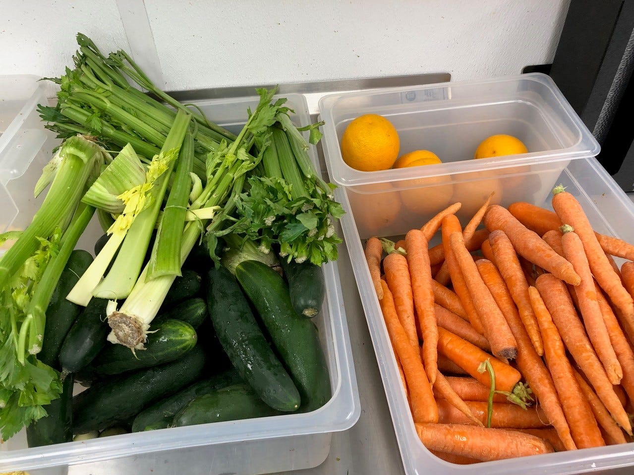 Some of the fresh fruit and vegetables used at Roots Juice Bar in downtown Redding.