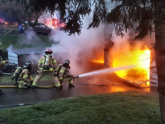 Around 6:30 a.m., Marion County Fire District 1 firefighters reported to heavy fire and smoke coming from a home in the 1400 block of 82nd Avenue SE.