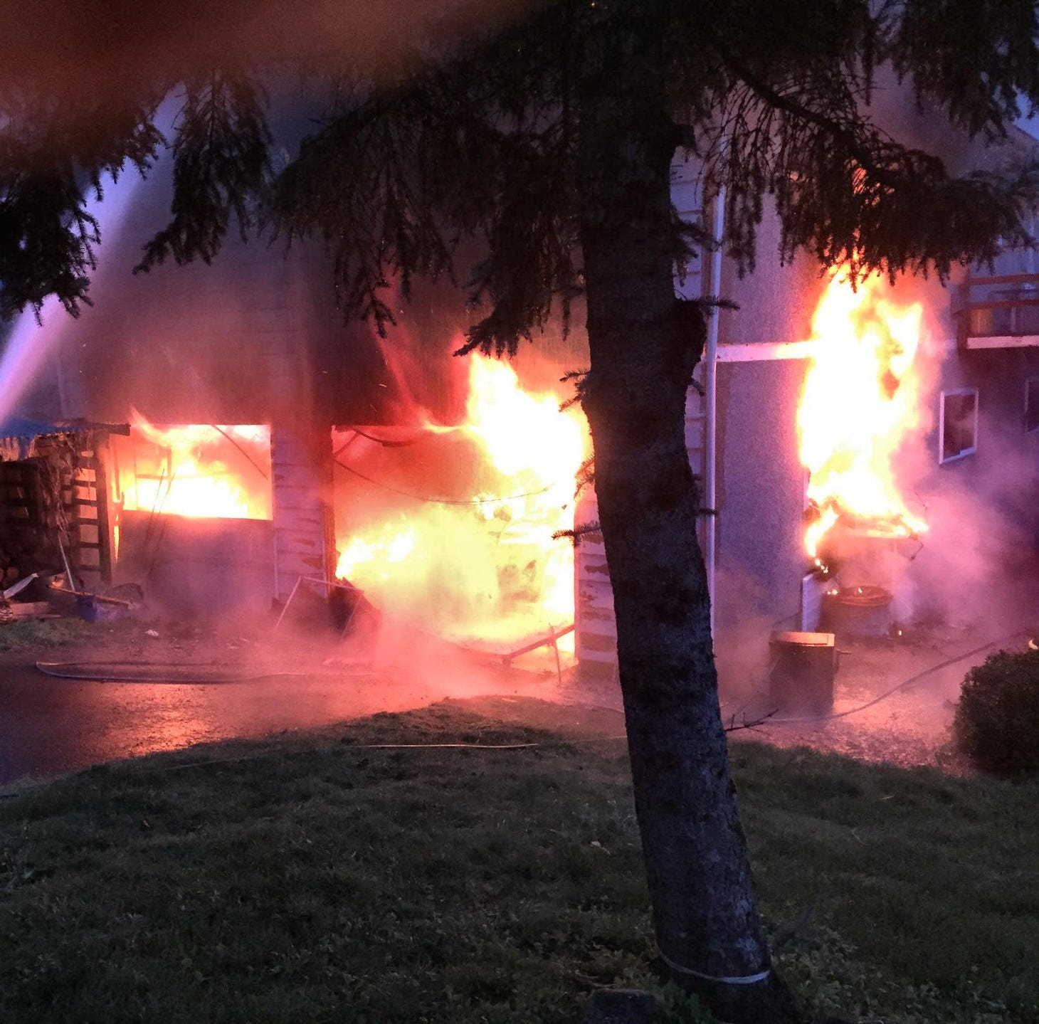 Four residents escape 2-alarm house fire in Macleay area