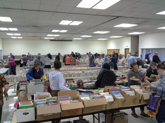 "Stayton Used Book Sale: The Stayton Friends of the Library sale featuring over 10,000 books sorted into over 40 categories for easy shopping, plus DVDs and CDs, to benefit the Stayton Public Library, 5 to 8 p.m. ""early bird night"" Thursday, 9 a.m. to 7 p.m. Friday, 9 a.m. to 4 p.m. Saturday, April 4-6, Stayton Community Center, 400 W Virginia St, Stayton. Prices vary by day."