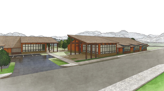 A rendering of what Santiam High School will look like if voters approve a $17.9 million bond.