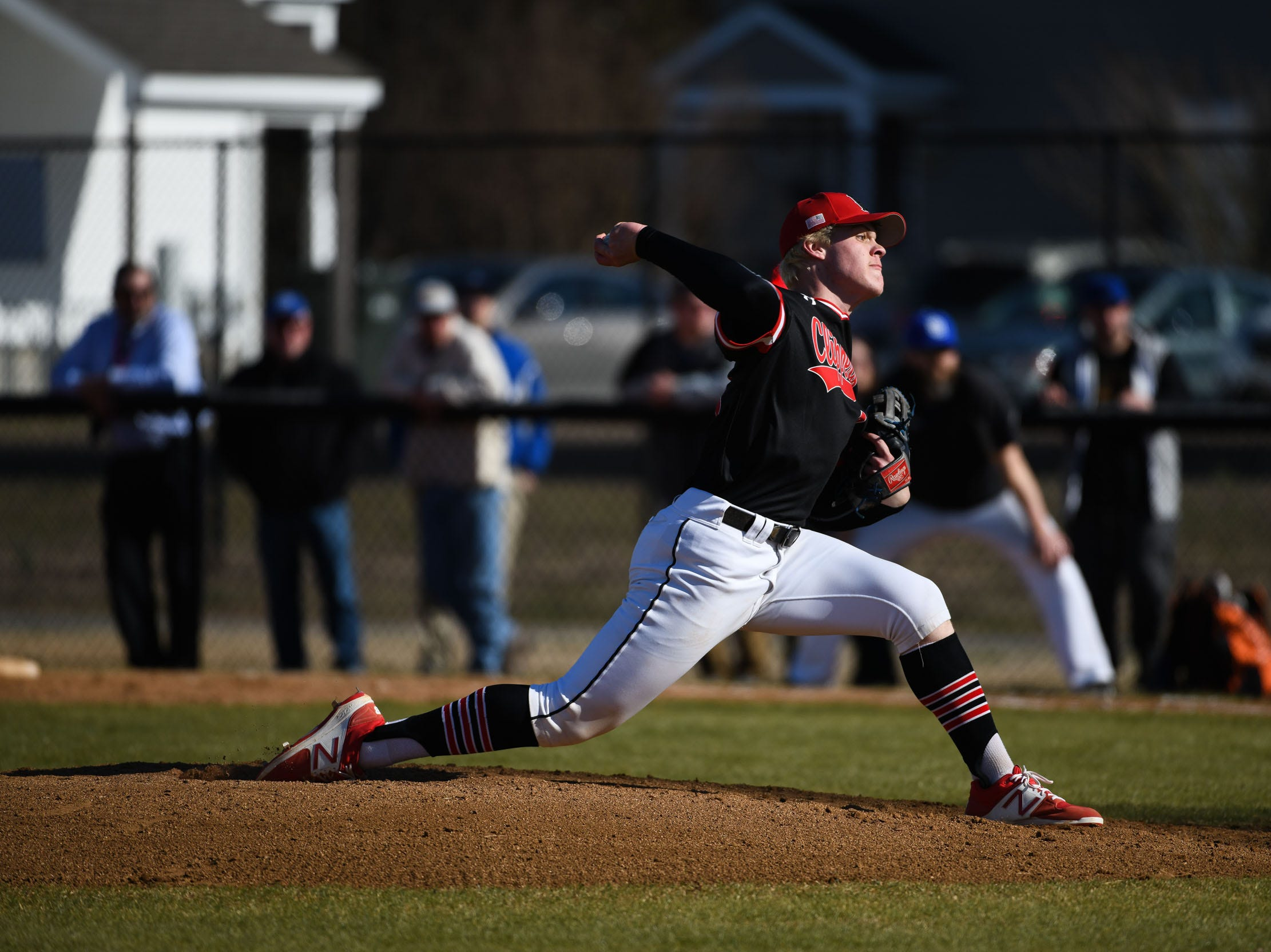 Bennett's Arron Combs on the mound against Stephen Decatur on Thursday, March 28, 2019 in Salisbury, Md.