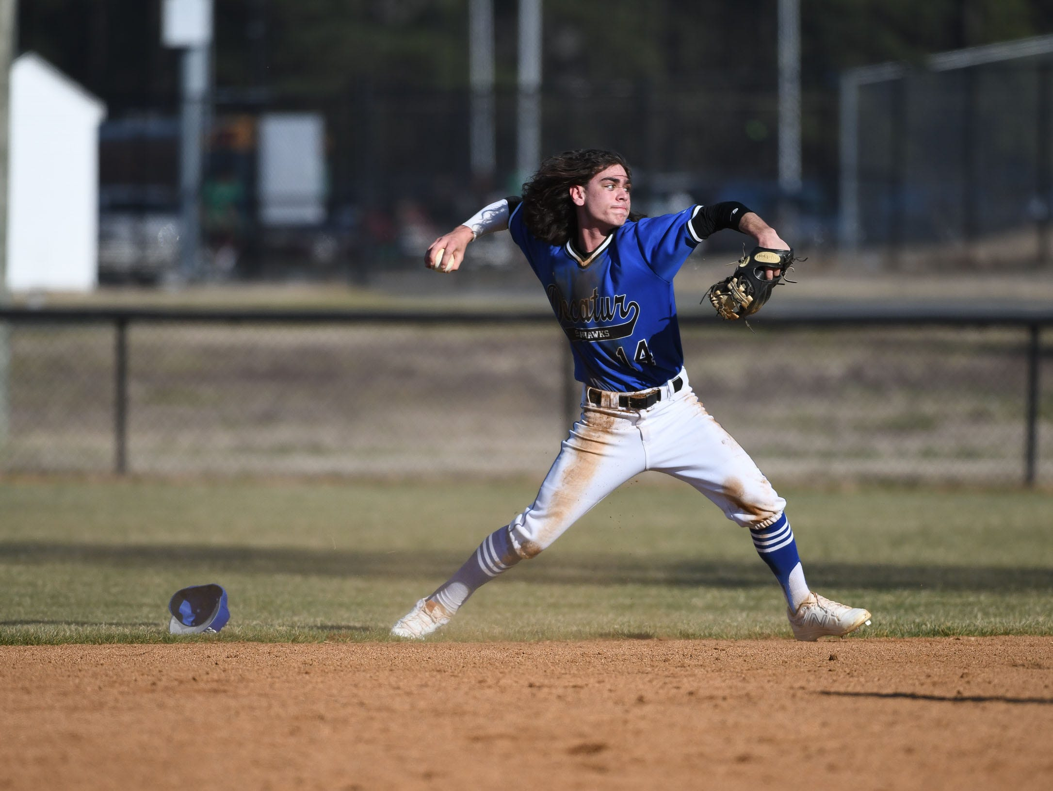 Stephen Decatur's Noah Ager with the play at second against Bennett on Thursday, March 28, 2019 in Salisbury, Md.