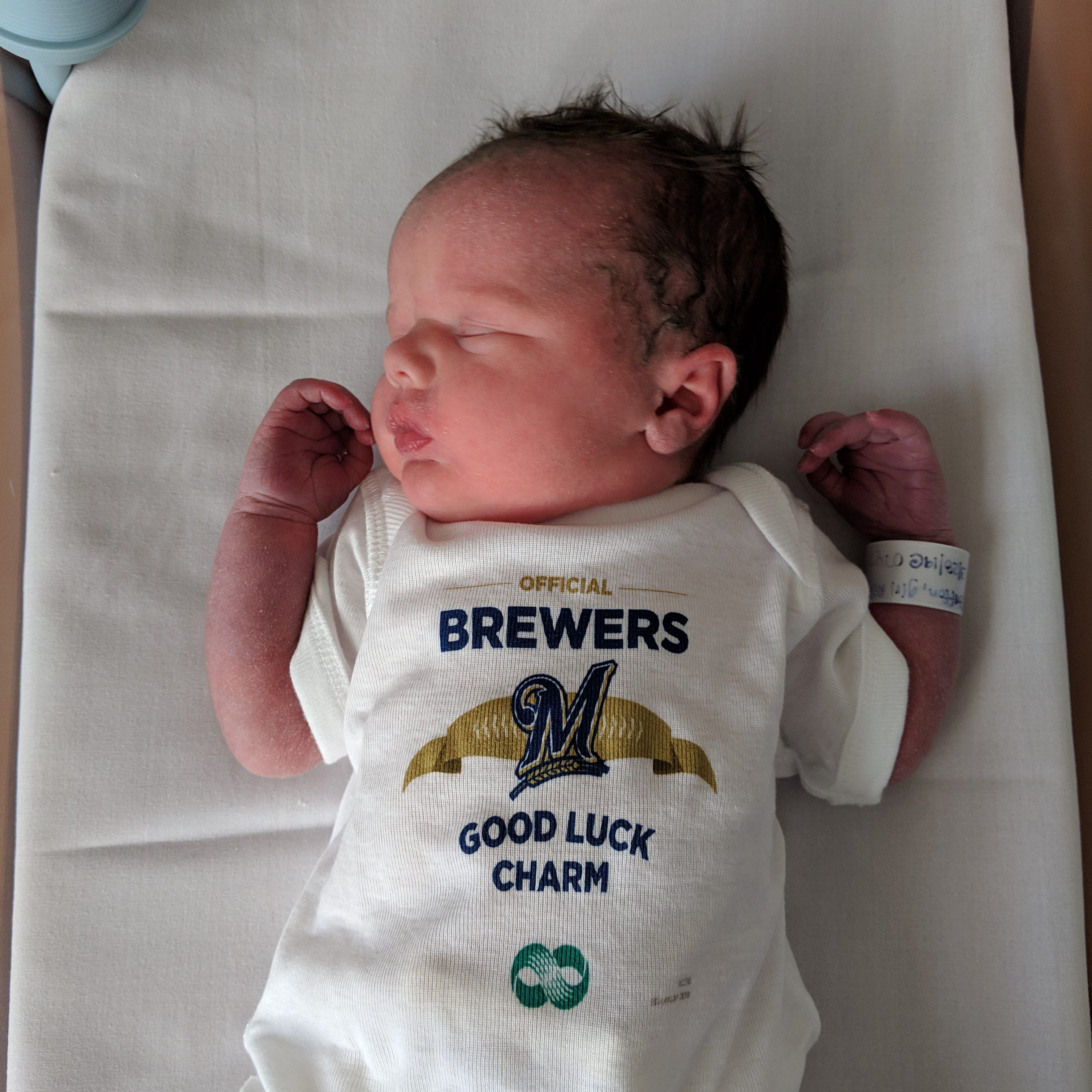 Newest Brewers fans may already be bringing the team good luck