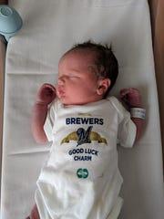 Holland Staffon was born on opening day.