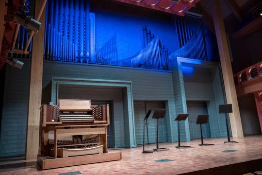 Inside the Founder Recital Hall in the newly expanded Performing Arts Center at South Dakota State University in Brookings.